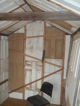 crib insulated interior west wall