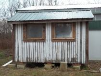 unsided crib south wall