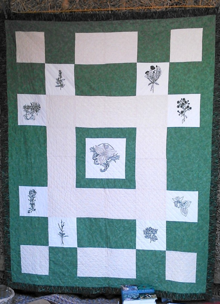 The Herb Quilt and a Tea Party (1/6)