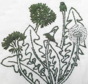 Embroidered Dandelion.