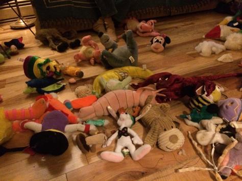 mixed stuffy pile