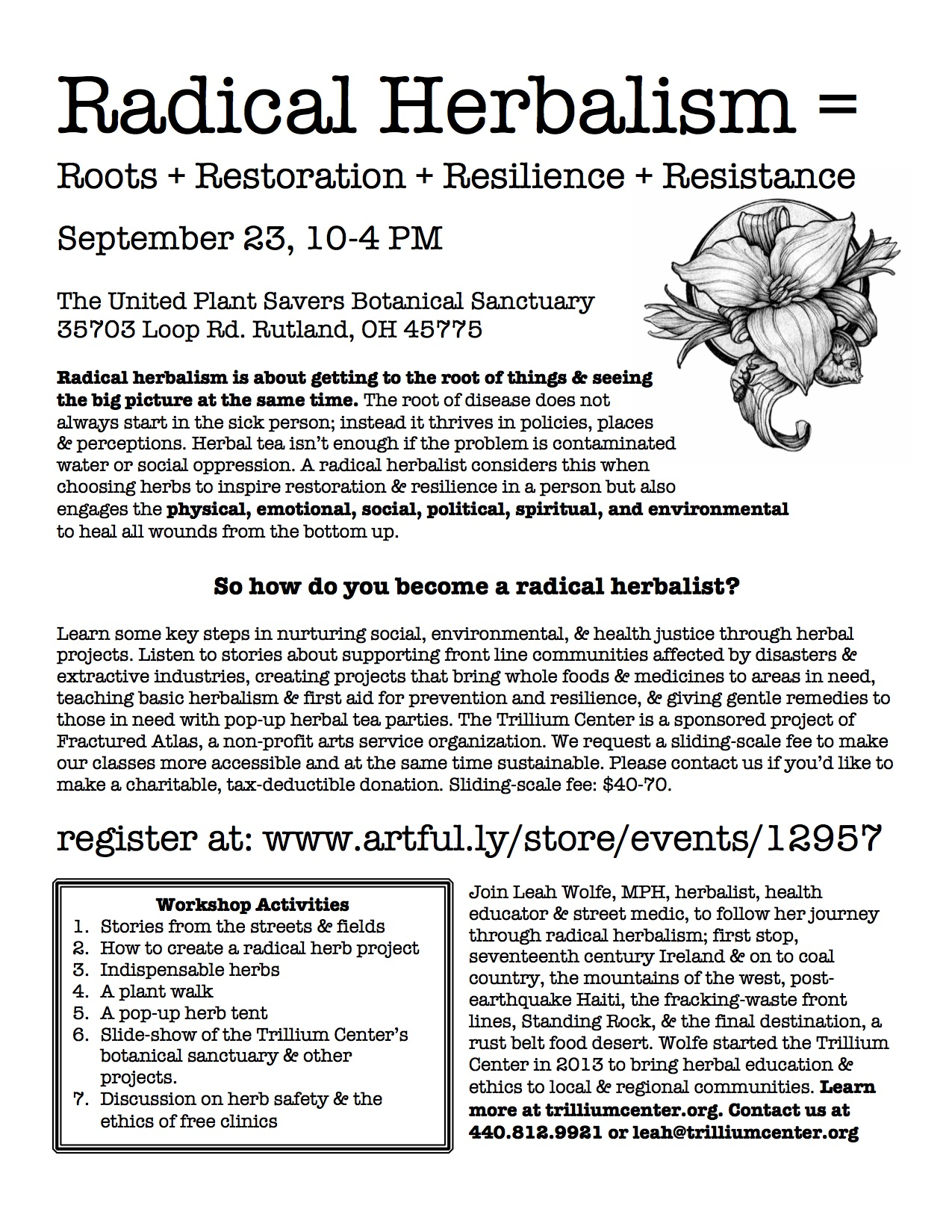 Radical Herbalism Workshop